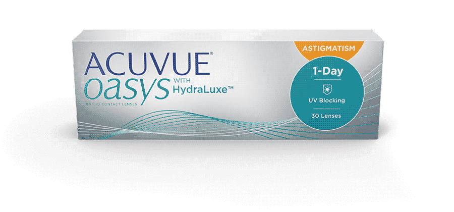 Acuvue oasys hydraluxe daily use contact lenses